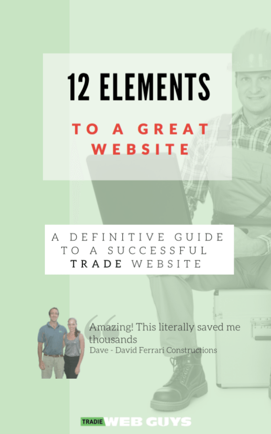 12 Elements Cover 1 - Thanks for downloading 'The 12 elements to a great website'.