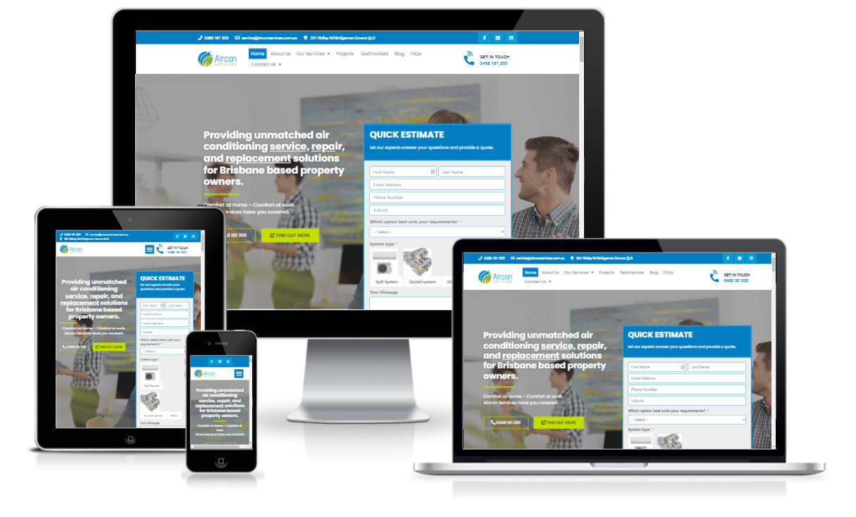 AirconServices - Full website