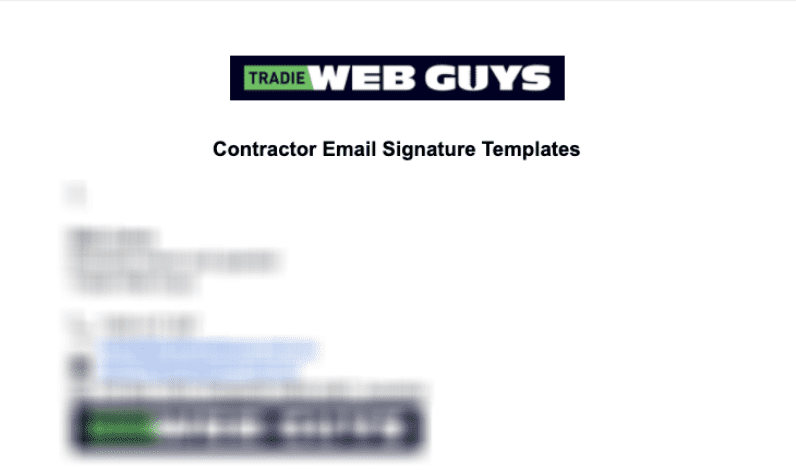 Image of 'Contractor email signatures' template