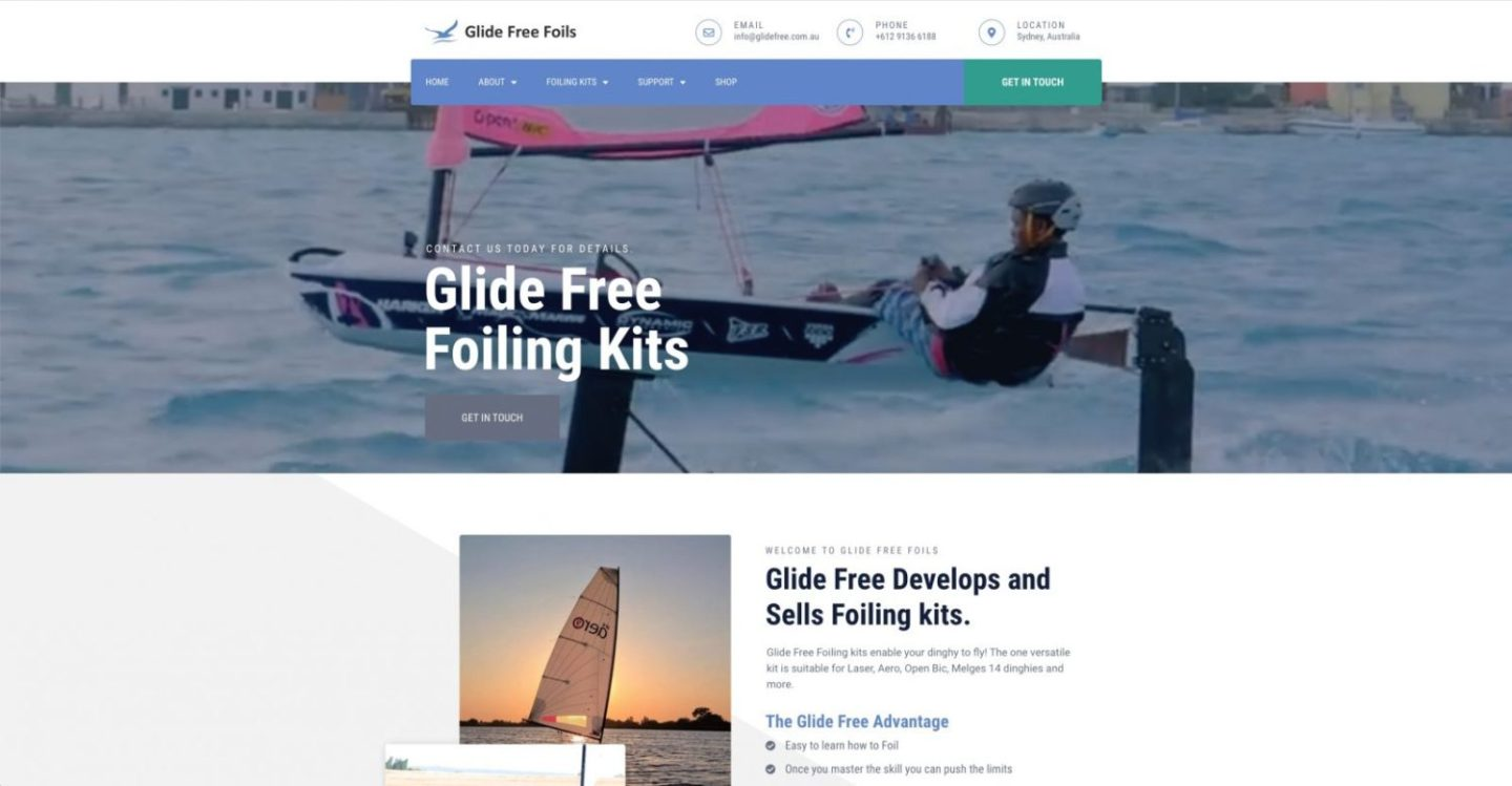 Glide Free New Homepage - Project Gallery