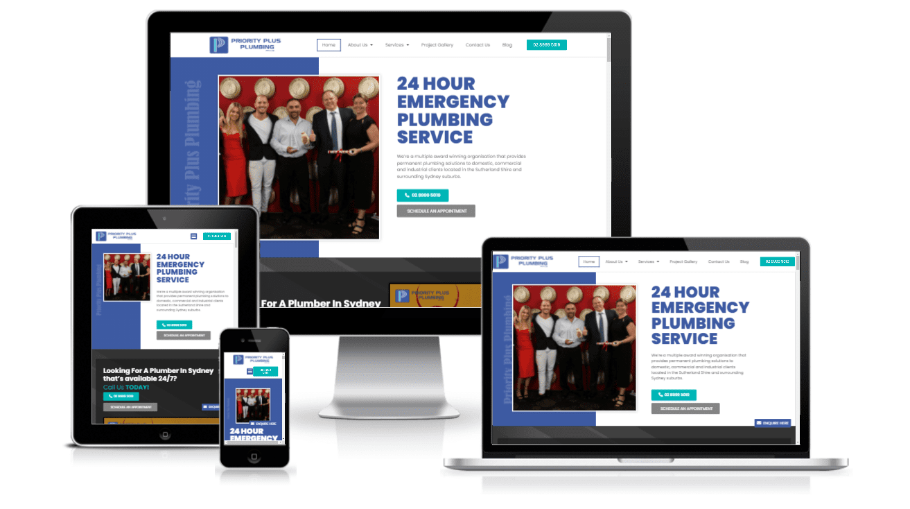 PPP website multi device - Project Gallery