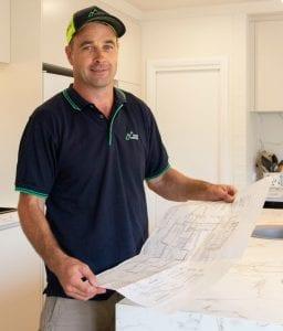 P Simon with plans 256x300 - Websites For Builders - Westridge Construction