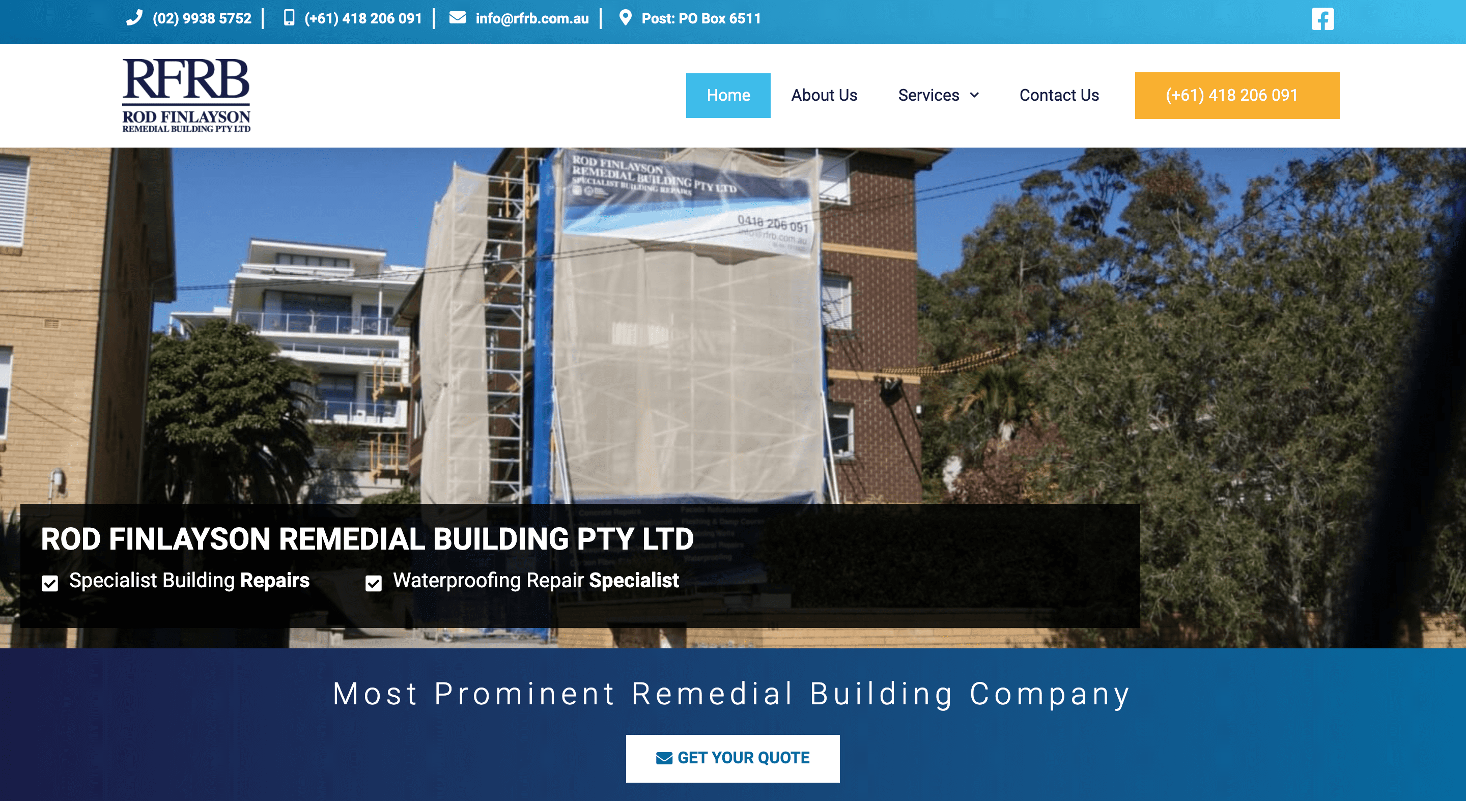 websites for remedial builders rfrb