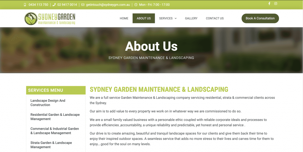 SydneyGM Landscaping About Us page 1024x513 - Gavin SydneyGM FB Leads Page