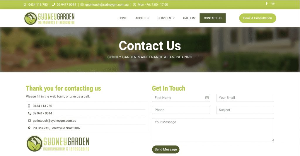 SydneyGM Landscaping Contact Us page 1024x533 1 - Gavin SydneyGM FB Leads Page