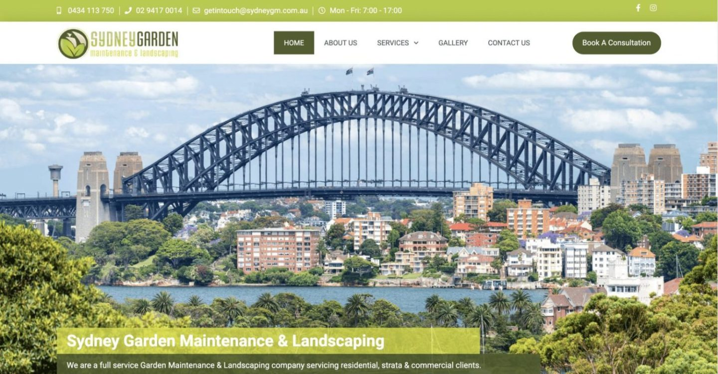 SydneyGM Landscaping Homepage - Project Gallery