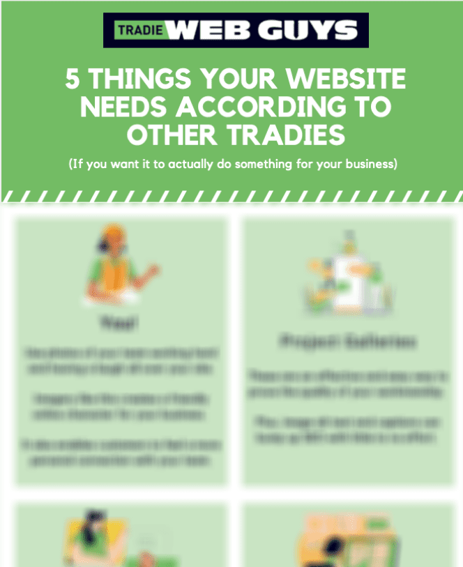 Image of '5 things your website needs according to other tradies' infographic