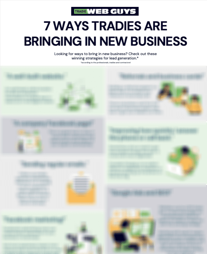 Image of '7 ways tradies are bringing in new business' infographic